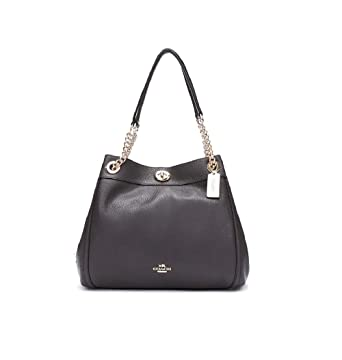 Image Unavailable. Image not available for. Color  Coach Edie Ladies Large  Leather ... 9b27629e611ab