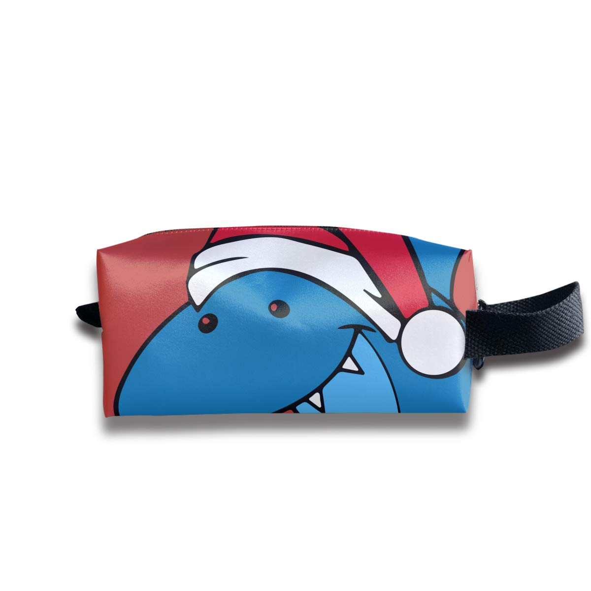 Novelty Colorful Shark Santa JAaws Portable Evening Bags Clutch Pouch Purse Handbags Cell Phone Wrist Handbags For Womens
