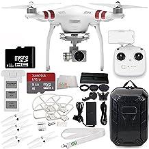 DJI Phantom 3 Standard Drone with 2.7K Camera, 3-Axis Gimbal & Manufacturer Accessories + DJI Propeller Set + Water-Resistant Hardshell Backpack + 7PC Filter Kit (UV-CPL-ND2-400-Lens Hood-Stabilizer) + MORE
