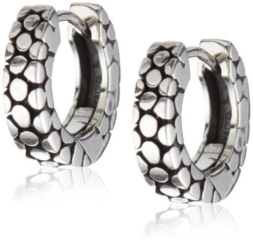 Zina Sterling Silver Stingray-Texture Hoop Earrings (Zina Sterling Silver Earrings)