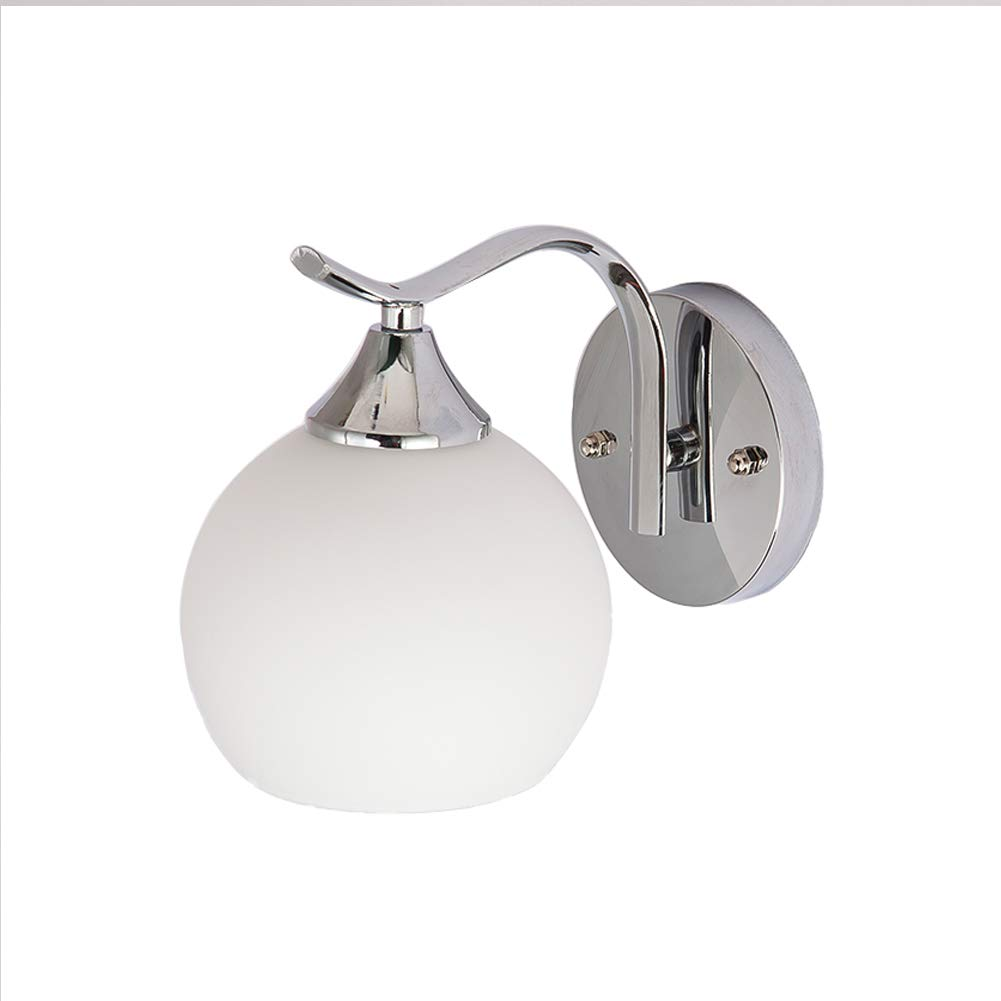 Details about indoor lighting wall lamp e27 bulb led wall light fixtures modern glass sconces