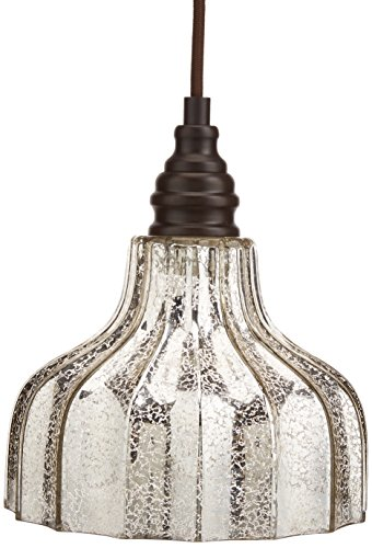 Danica 1 Light Pendant In Oiled Bronze (Mercury Glass Chandelier)