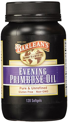 Barlean's Organic Oils Organic Evening Primrose Oil, 120 softgels/1300 mg ea. Bottle