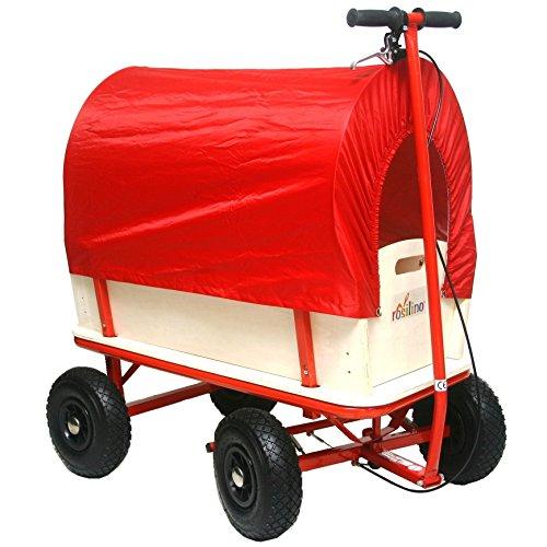 rosilino Bollerwagen TOURINO rot, mit Bremse und Plane