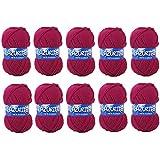 Distrifil - 10 pelotes de laine à tricoter Distrifil AZURITE 0283 pas cher 100% acrylique - 0283