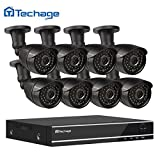 Techage 8CH 1080P DVR CCTV System 8PCS 1200TVL 2.0MP Night Vision Weatherproof Outdoor Home Security Camera Video Surveillance Kits Without Hard Drive