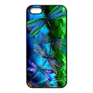 HWGL Blue Dragonfly Cell Phone Case for Iphone 5s