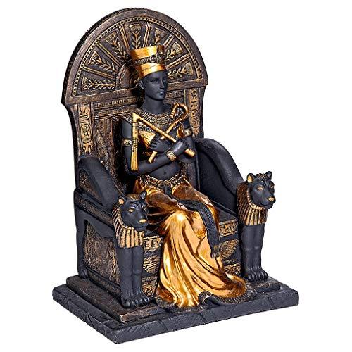 Queen Nefertiti Statue - Design Toscano Queen Nefertiti, Ruler of Egypt Statue, Black/Gold
