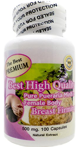 The Best Premium Pueraria Mirifica Powder Extract 100% Organic Natural Herbal 500mg 100 Vegetarian Capsules