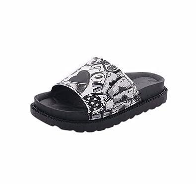 YUCH Ladies' Chaussons Baotou Boucle Sandales Élégantes Et Rugueux en Été,Black,38