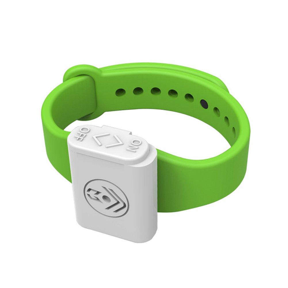 VOOYE Outdoor essenziale anti zanzara Repeller repellente per insetti braccialetto Pest Control Bugs respingere Wristband elettronico portatile a ultrasuoni (verde)
