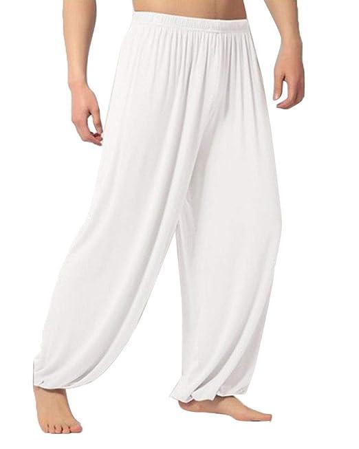 Pantalones De Yoga para Hombre Pantalones Largos De Dormir ...