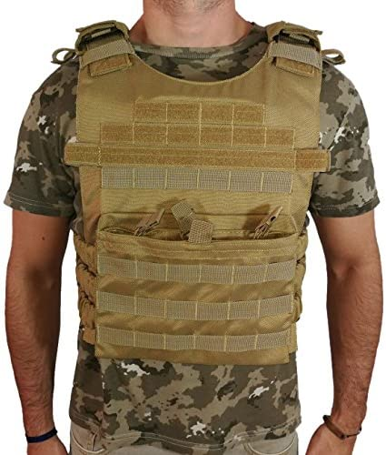 Oslotex Warrior Chaleco táctico de Airsoft, Unisex Adulto, Coyote ...