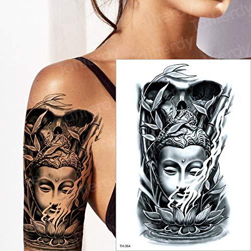 3 Piezas Tatuaje Mangas de Brazo Buda Chino Asiento de Loto bambú ...