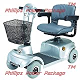 CTM - HS-360 - Mid-Range Travel Scooter - 4-Wheel - Silver - PHILLIPS POWER PACKAGE TM - TO $500 VALUE