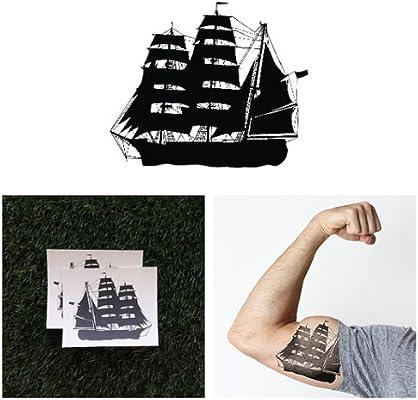 Tatuaje Temporal Tattify - Barco de Vela Grande – Barco AW (Juego ...