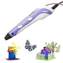 Cadrim 3D Printing Pen DIY 3D Doodle Printer Pen 3D Stereoscopic Printing Pen for Drawing, Model Printing & Art Design (purple)