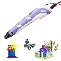 Cadrim 3D Printing Pen DIY 3D Doodle Printer Pen 3D Stereoscopic Printing Pen for Drawing, Model Printing & Art Design(purple)