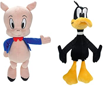 Looney Tunes - Daffy e Porky Pig - Set 2 Peluches