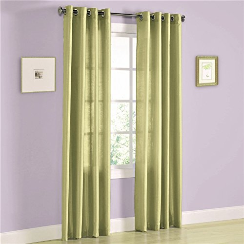- Gorgeous Home (MIRA) 2 Panels Solid Grommet Faux Silk Window Curtain Drapes Treatment in 63