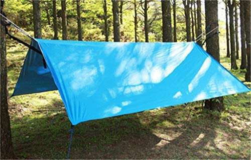 3X3 meter Lichtgewicht Oxford doek Buiten waterdichte Zon Shelter Summer Tarp tuinhuisjes met pinnen,Blue