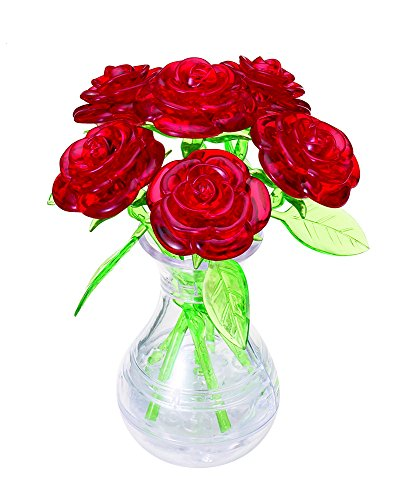 Beverly 47 piece Crystal puzzle 6 Rose Red