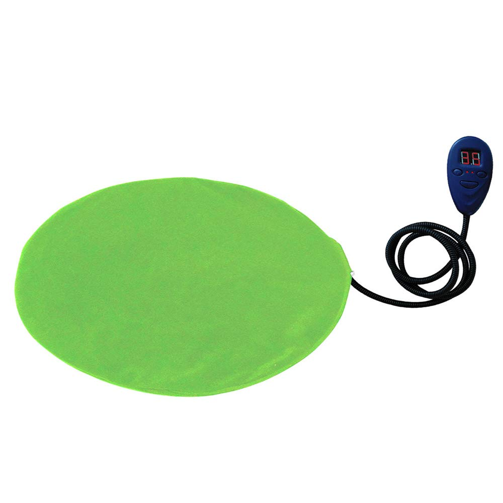 Green QNMM Dog Heating Pad Adjustable Temperature Waterproof Pet Bed Warmer With Chew Resistant Cord Soft Removable Cover Overheat Predection,Green