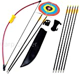Kids Starter 36' Archery Set With 7 Arrows Recurve Bow Plus Shooting Targets
