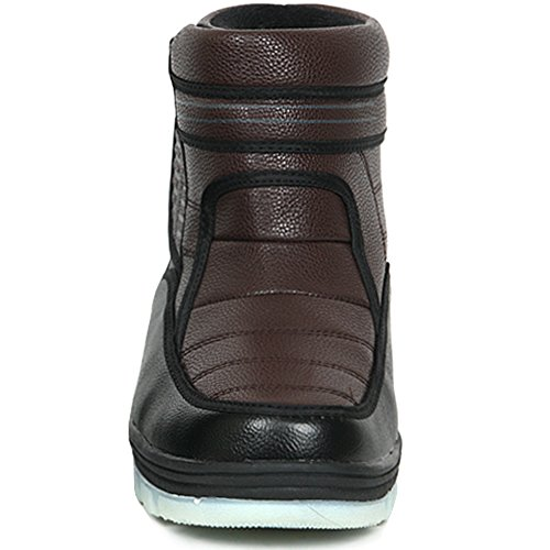 New Black Brown Donna Inverno Comfort Velcro Stivaletti Snow Warm Shoes Brown