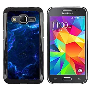 QCASE / Samsung Galaxy Core Prime SM-G360 / galaxia nebulosa polvo de estrellas azules de gas universo / Delgado Negro Plástico caso cubierta Shell Armor Funda Case Cover