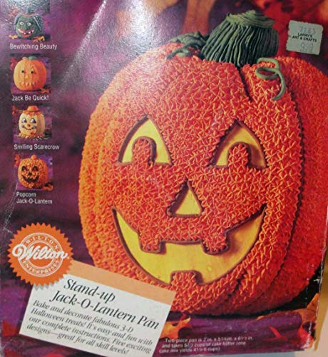 Wilton 3D Stand-Up Jack-O-Lantern Pumpkin/Scarecrow/Witch Cake Pan (2105-3150, -