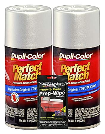 Amazon.com: Dupli-Color Platino Plata (Metálico) Toyota ...