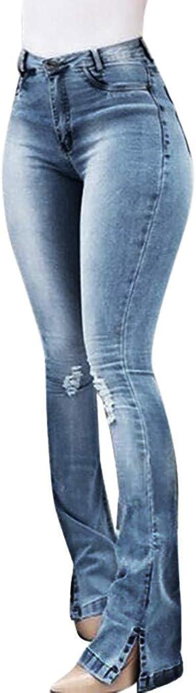 Pantalones Mujer Verano Ultra Moda Skinny Vaqueros Mujer Cintura Alta Vaqueros Pitillo Para Mujer Slim Fit Pantalones De Mezclillade Alta Elasticidad Pantalones Cielo Azul Amazon Es Ropa Y Accesorios