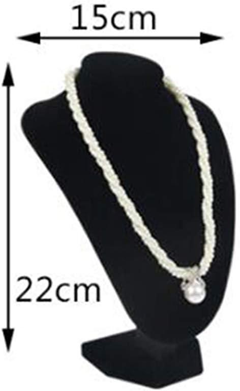 20x20x17cm KESOTO Schwarz Schmuckb/üste Schmuckst/änder Displayst/änder f/ür Juwelierladen Ladentisch