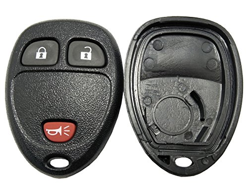 - Replacement Key Fob Case Shell for Buick/Chevy Avalanche Equinox Express Silverado Traverse/GMC Sierra/Pontiac Torrent 3 Buttons Pad Cover Keyless Entry Remote Car Key Casing (Black)