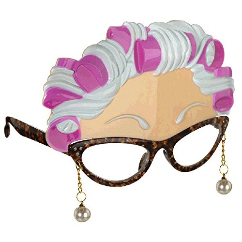 Amscan 250716 Party Supplies Old Lady Fun Shades, One Size, Multicolor -