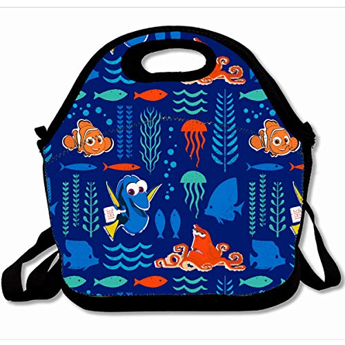- Ahawoso Reusable Insulated Lunch Tote Bag Finding Dory Sea Pattern Fashion 10X11 Zippered Neoprene School Picnic Gourmet Lunchbox