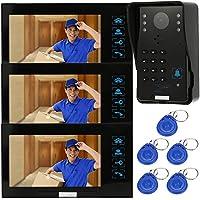 Docooler 7 Video Door Phone Intercome Doorbell Touch Button ID Cards/Code Unlock Night Vision Rainproof Security CCTV Camera Home Surveillance TP02S-13