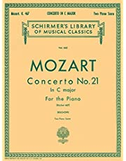 Concerto No. 21 in C, K.467: Schirmer Library of Classics Volume 662 National Federation of Music Clubs 2014-2016 Piano Duets