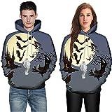 Halloween Couples Sweatshirt Sale KIKOY 3D Print Long Sleeve Hoodies Top Blouse Shirts