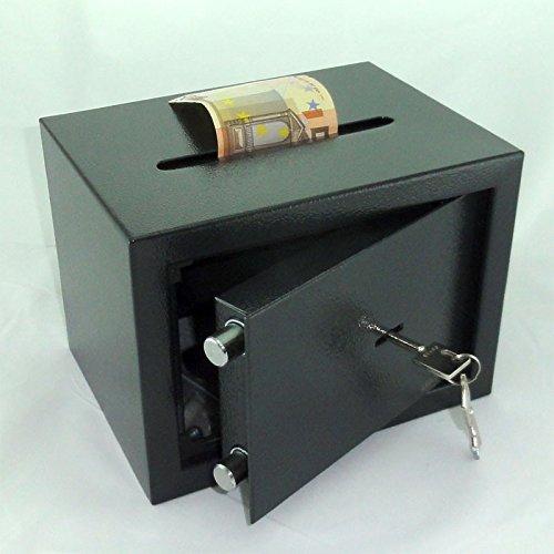 ca 6 l Tresor Safe M/öbeltresor mit Einwurfschlitz Doppelbart-Schl/üssel