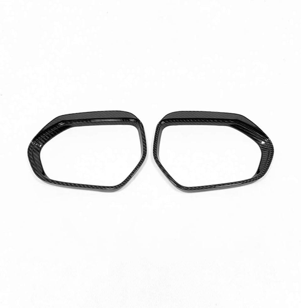 SBCX Per Toyota Yaris 2020 2021 ABS Cromo//Fibra di Carbonio Car Side Door specchietto retrovisore Pioggia sopracciglio Cover Trim Sticker Accessori