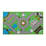 GABWE Kids Round Rug Cotton for Kids Floor Play mats Kids Room Decoration 35.4 inches