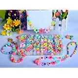 Emorefun Kids Colorful Beads Toy DIY Jewelry Beads for Bracelets Necklace Educational Toy Rectangle Box Color Set of Candy