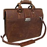 AmeriLeather Leather Doctor's Carriage Bag (Waxy Brown)