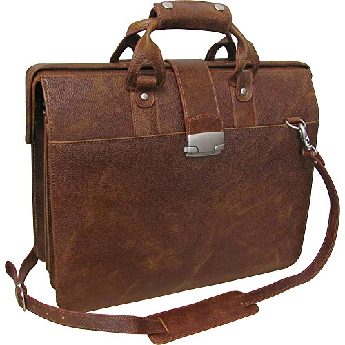 AmeriLeather Leather Doctor's Carriage Bag (Waxy Brown) by Amerileather