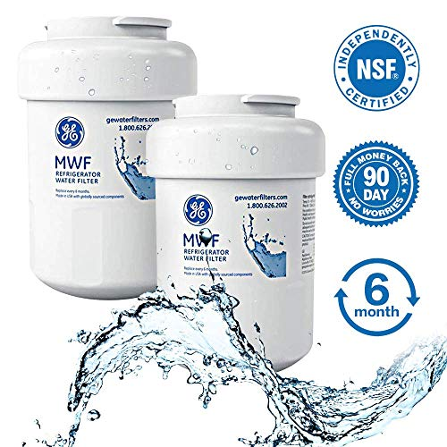 (GE MWF Refrigerator Water Filter, MWF Water Filter for GE Refrigerator 2 Pack by ELFTEAR)