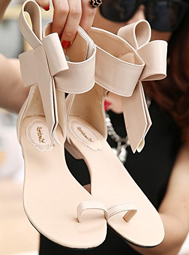 Plat Abricot Aisun Femme ud Papillon Sandales Orteil N Confortable Talon wqIR6H