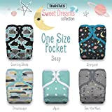 Thirsties TPDPSSD Package One Size Pocket Diaper Snap Sweet Dreams Collection Diapers