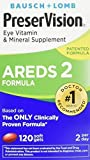 PreserVision AREDS 2 Eye Vitamin & Mineral Supplement with Lutein and Zeaxanthin Soft Gels FamilyValue 2Pack (120 SGels)